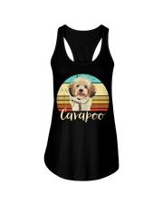Cute Cavapoo Dog Vintage Pet Owner Graphic Ladies Flowy Tank thumbnail