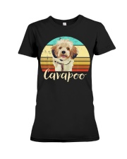 Cute Cavapoo Dog Vintage Pet Owner Graphic Premium Fit Ladies Tee thumbnail