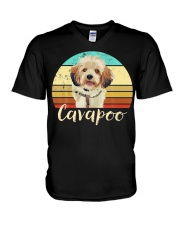 Cute Cavapoo Dog Vintage Pet Owner Graphic V-Neck T-Shirt thumbnail