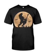 Halloween Guitar Costume Werewolf Rock Guitarist Premium Fit Mens Tee thumbnail