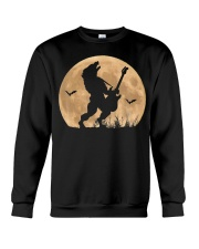 Halloween Guitar Costume Werewolf Rock Guitarist Crewneck Sweatshirt thumbnail