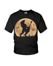 Halloween Guitar Costume Werewolf Rock Guitarist Youth T-Shirt thumbnail