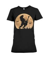 Halloween Guitar Costume Werewolf Rock Guitarist Premium Fit Ladies Tee thumbnail