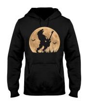 Halloween Guitar Costume Werewolf Rock Guitarist Hooded Sweatshirt thumbnail