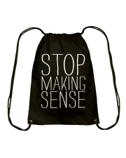 Stop Making Sense Drawstring Bag thumbnail