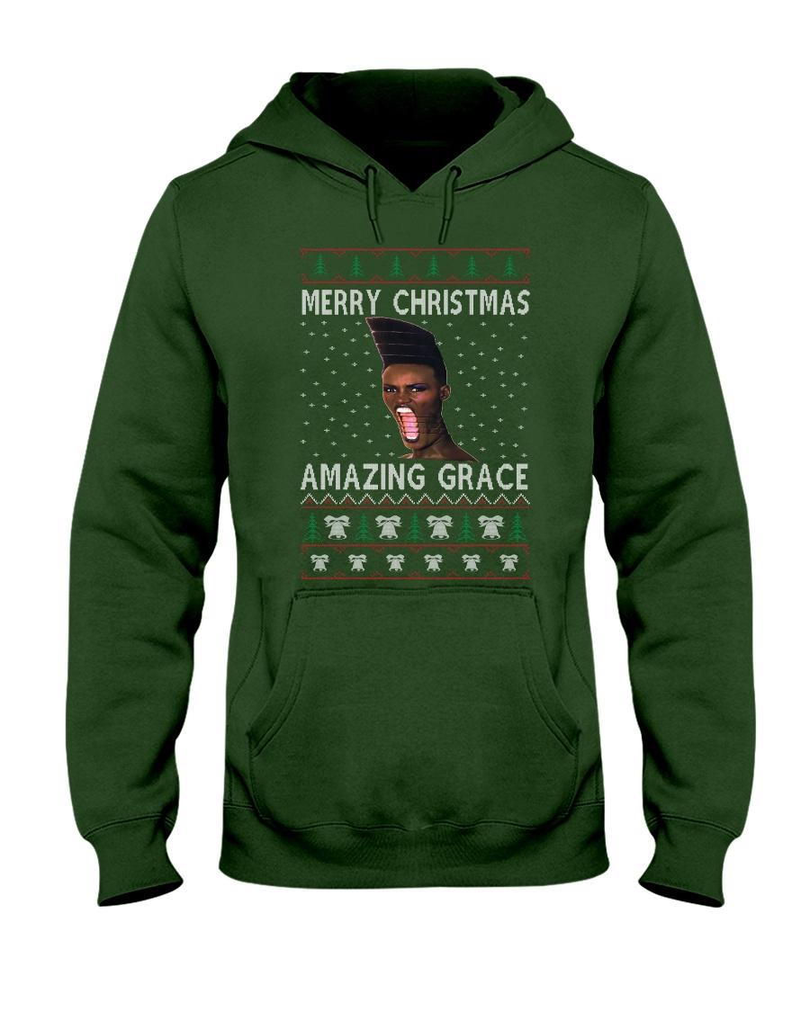Amazing Grace Ugly Christmas Sweater Hooded Sweatshirt