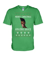 Amazing Grace Ugly Christmas Sweater V-Neck T-Shirt front