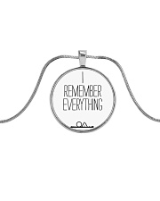 The OA - I REMEMBER EVERYTHING Metallic Circle Necklace thumbnail
