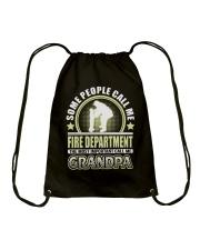 CALL ME FIRE DEPARTMENT GRANDPA JOB SHIRTS Drawstring Bag thumbnail