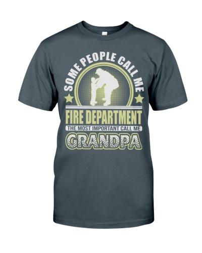 CALL ME FIRE DEPARTMENT GRANDPA JOB SHIRTS