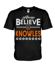 Always Believe in KNOWLES Shirts V-Neck T-Shirt thumbnail