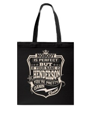 NOBODY PERFECT HENDERSON THING SHIRTS Tote Bag thumbnail