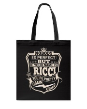 NOBODY PERFECT RICCI THING SHIRTS Tote Bag thumbnail