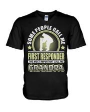 CALL ME FIRST RESPONDER GRANDPA JOB SHIRTS V-Neck T-Shirt thumbnail