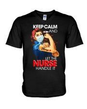 Keep Calm And Let The Nurse Handle It T-Shirt V-Neck T-Shirt thumbnail