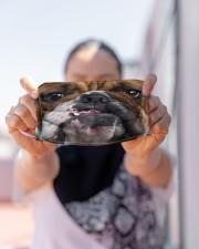 Love Bull Dog Cloth face mask aos-face-mask-lifestyle-07
