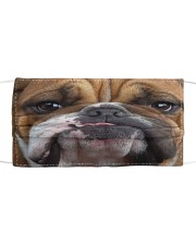 Love Bull Dog Cloth face mask front