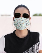 Love Parrots And Toucans Cloth face mask aos-face-mask-lifestyle-02
