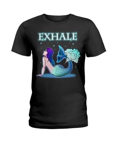 Exhale Mermaid Yoga Shirt
