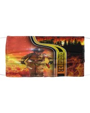 Love Firefighter Cloth face mask front