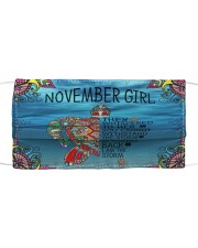 November Girl Cloth face mask front