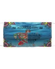 Aquarius Girl Cloth face mask front