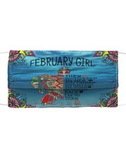 February Girl Cloth face mask front
