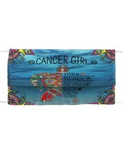 Cancer Girl Cloth face mask front