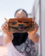 Love Pomeranian Cloth face mask aos-face-mask-lifestyle-07