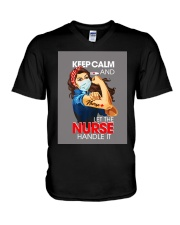 Keep Calm And Let The Nurse Handle It T-Shirt V-Neck T-Shirt tile