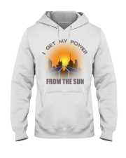 I get my power from the sun Hooded Sweatshirt front