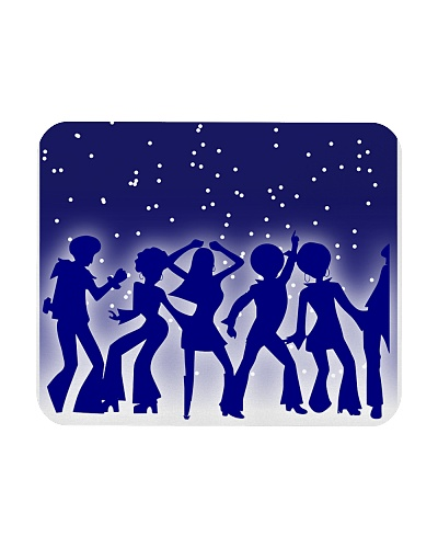 Groovy 70s' Disco Silhouette Mousepad