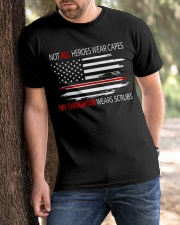 tho- MY daughter wears scrubs Classic T-Shirt apparel-classic-tshirt-lifestyle-front-51