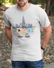 gold powder decorative watercolor unicorn Classic T-Shirt apparel-classic-tshirt-lifestyle-front-52