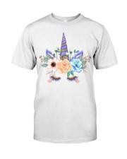 gold powder decorative watercolor unicorn Classic T-Shirt front