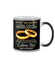 To my husband -I wish i could turn back the clock Color Changing Mug thumbnail