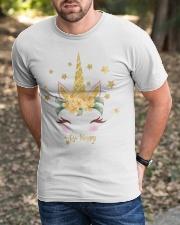 golden unicorn gold sparkle Classic T-Shirt apparel-classic-tshirt-lifestyle-front-52
