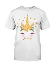 golden unicorn gold sparkle Classic T-Shirt front