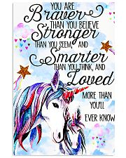 Baby Unicorn You are braver Nursery Vertical Poster tile