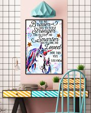 Baby Unicorn You are braver Nursery 16x24 Poster lifestyle-poster-6