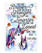 Baby Unicorn You are braver Nursery Sticker tile