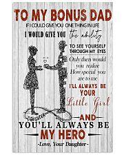 Fleece Blanket - To my bonus dad - 16x24 Poster front