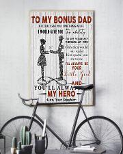 Fleece Blanket - To my bonus dad - 16x24 Poster lifestyle-poster-7