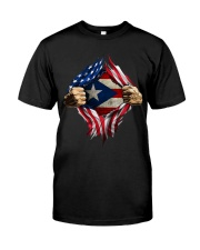 Puerto Rico flag blood inside me Classic T-Shirt front