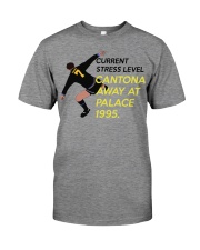 Current stress level cantona away at palace 1995 Premium Fit Mens Tee front