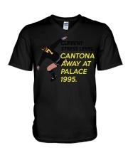 Current stress level cantona away at palace 1995 V-Neck T-Shirt thumbnail