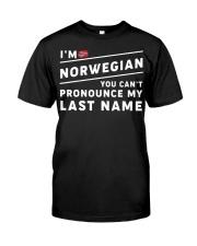 I'm norwegian you can't pronounce my last name Classic T-Shirt thumbnail