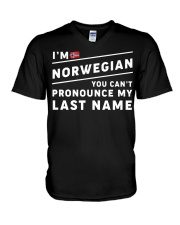 I'm norwegian you can't pronounce my last name V-Neck T-Shirt thumbnail