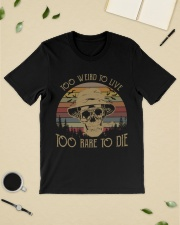 Too weird to live too rare to die vintage  Premium Fit Mens Tee lifestyle-mens-crewneck-front-19