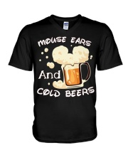 Mouse ears and cold beers  V-Neck T-Shirt thumbnail